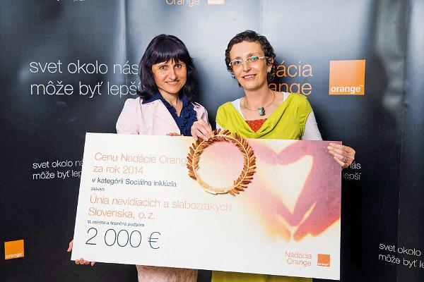 Zdravé oči už v škôlke - Cena Nadácie Orange za rok 2014